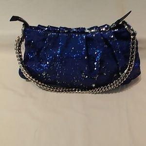 OR YANY blue sequins handbag handbag